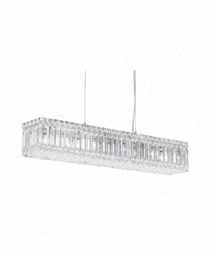 Schonbek 2259sh Quantum 10 Light Single Tier Chandelier In Polished Chrome With Swarovski Strass Silver Shade Crystal