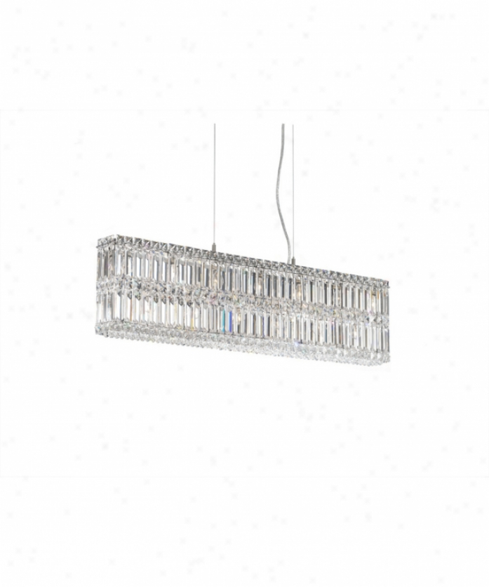Schonbek 2265s Quantum 13 Light Single Tier Chandelire In Polished Chrome With Swarovski Strass Clear Crystal
