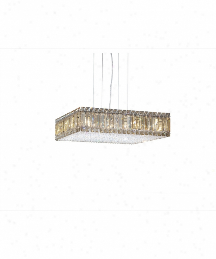 Schonbek 2272gs Quantum 16 Light Single Tieer Chandelier In Polished Chrome With Swarovski Strass Yellow Darkness Crystal