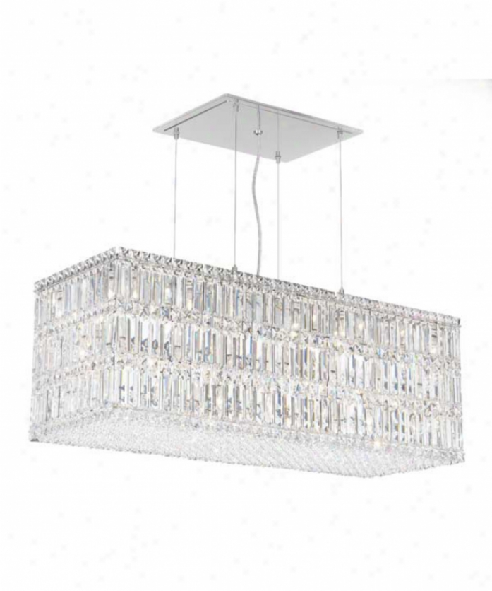 Schonbek 2281gs Quabtum 33 Light Single Tier Chandelier In Polished Chrome With Swarovski Strass Golden Shadow Crystal