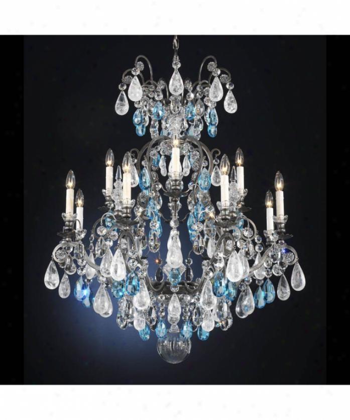 Schonbek Renaissance Rock Crystal Chandelier: Fine Art Lamps 162150 A Midsummer Nights Dream 3 Light