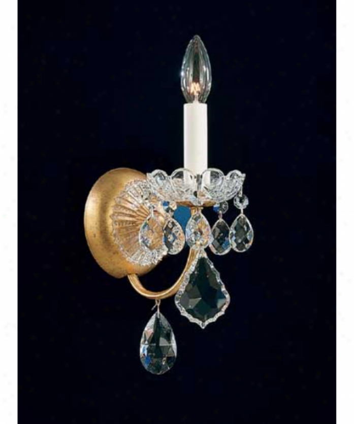 Schonbek 3650-34gs New Orleans 1 Light Wall Sconce In Freench Provincial With Swarovski Strass Golden Shadow Ctystal