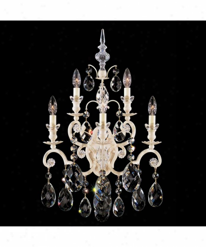 Schonbek 3763-48sh Renaissance 5 Light Wall Sconce In Antique Silver In the opinion of Swarovski Strass Silver Shade Crystal