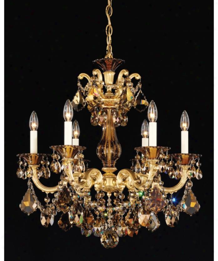 Schonbek 5072 76tk La Scala 6 Light Single Tier Chandelier