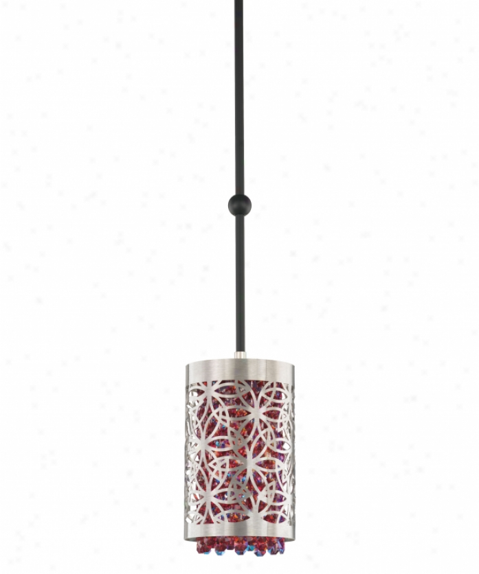 Schonbek Sh0404n-16gs Shadow Dance 1 Lighf Mini Pendaht In Brushed Stainless Steel With Golden Shadow Strass Crystal