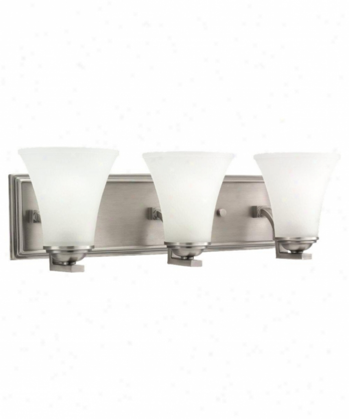 Sea Gull Lighting 44376-965 Somreton 3 Light Bath Vanity Frivolous In Antique Brushed Nickel With Satin Etched Glass