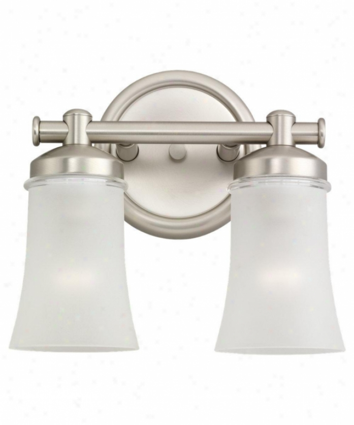 Sea Gull Lighting 44483-965 Newport 2 Light Bath Vanity Light In Antique Brushed Nickel With Clear Highlighted Satin Etchde Glass