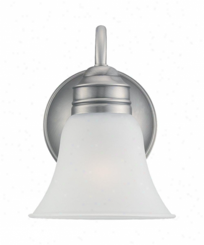 Sea Gull Lighting 49850ble-965 Gladstone Energy Smart 1 Light Wall Sconce In Angique Brushed Nickel With Satin Etched Glass