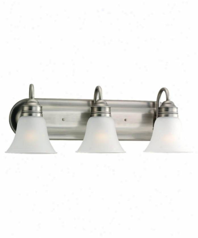Sea Gull Lighting 49852ble-965G ladstone Energy Smart 3 Light Bath Vanity Light In Antique Brushed Nickel With Satin Etched Glass