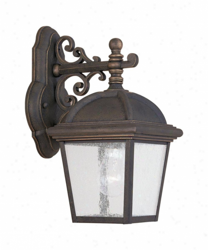 Sea Gull Lighting 8843 85 Charleston 1 Light Outdoor Wall In Gold Patina With