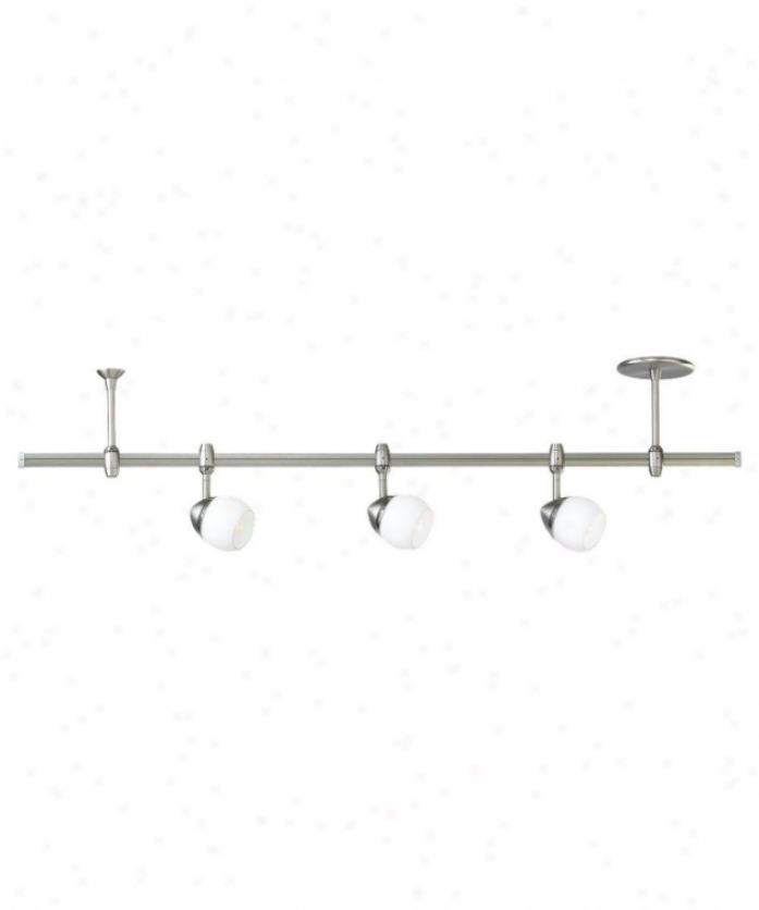 Sea Gull Livhting 94515-965 Ambiance Transitions 3 Light Rail Segment In Antique Brushed Nickel With Opal Cased Etched Glass