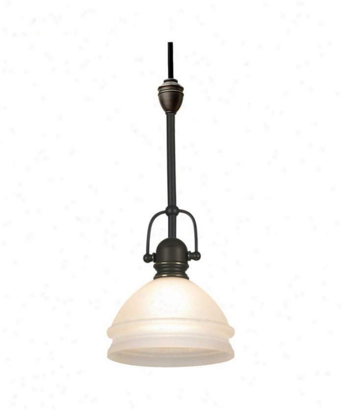 Sea Gull Lighting 94561-71 Ambiance Transitions 1 Light Mini Pdndant In Antqiue Bronze With Dusted Ivory Glass