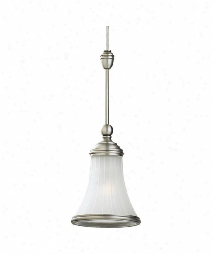 Sea Gull Lighhting 94563-965 Ambiance Transitions 1 Light Mini Pendant In Antique Brushed Nickel With Satin Etched Glass