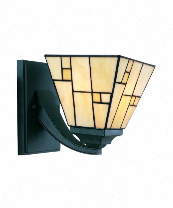 Thomas Lighting M4116-11 Rockledge 1 Light Bath Vanity Light In Alloy of copper Florentine With Honey Art Glass Glass