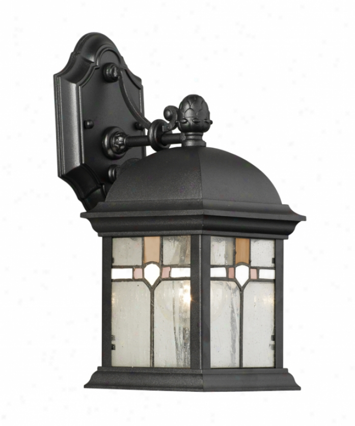 Minka Lavery 8821-57 Chatham 1 Light Outdoor Wall Light in Roman Bronze with Mouth Blown Clear ...