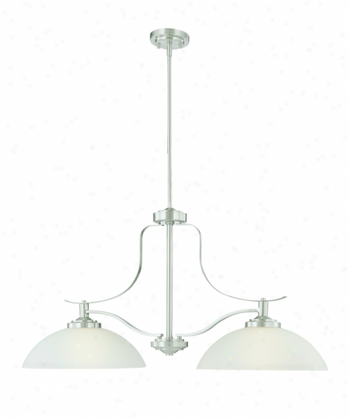 Thomas Lightin Pl821278l Hampshire Energy Smart 2 Light Island Illumine In Brushed Nickel With Etched Clear Glass Glass