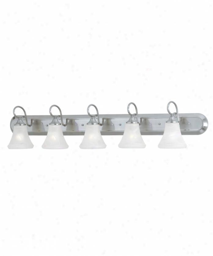 Thomas Lighting Sl744758 Elipse 5 Light Bath Van5iy Light In Brushed Nickel With Swirl Alabaster Title Glass Glass