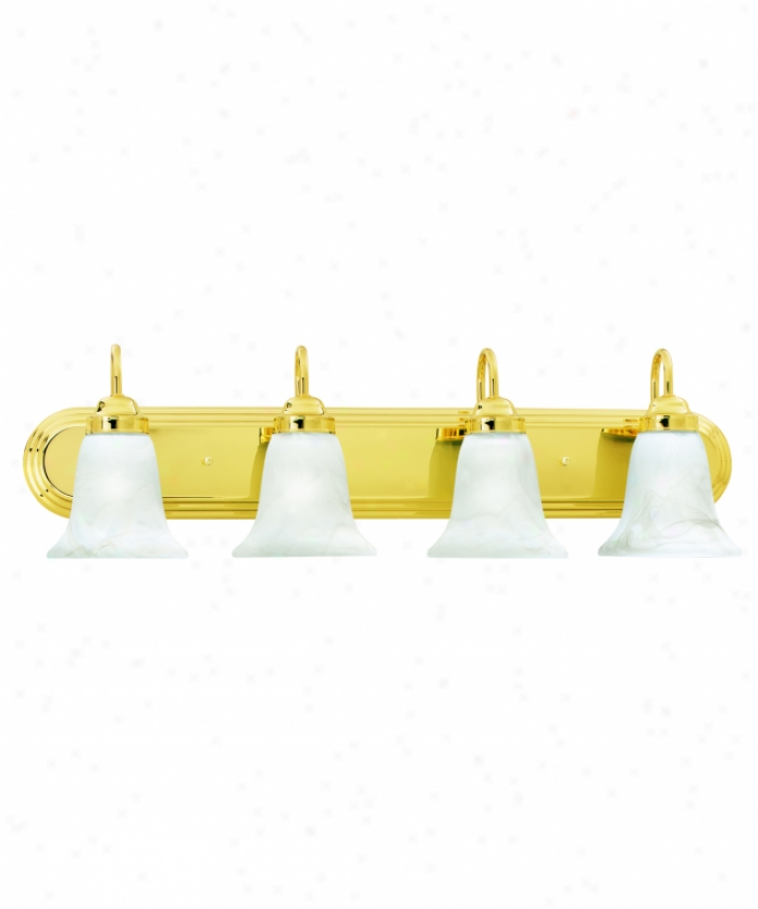 Thomas Lighting Sl75841 Homestead 4 Light Bath Vanity Light In Polished Brasa With Swirl Alabaster Style Glass Glass