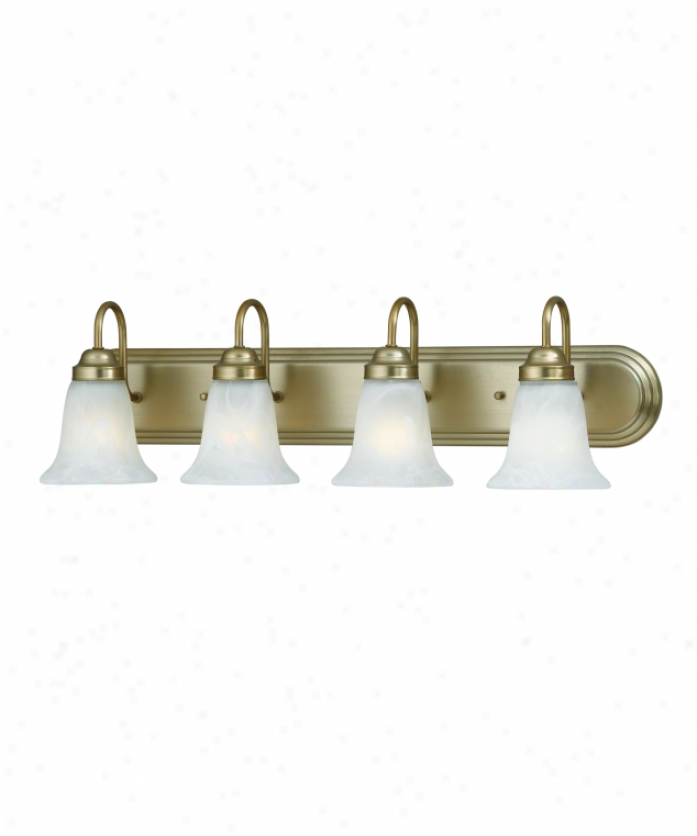 Thomas Lighting Sl758468 Homestead 4 Light Bath Vanity Light In Burnished Bronze With Eddy Alabaster Diction Glass Glass