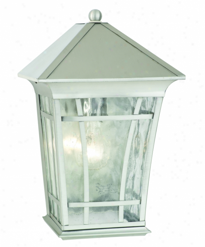 Thomas Lighting Sl948741 Hancock 1 Light Outdoor Wall Light In Satin Pewter With Water Seedy Glass Panells Glass