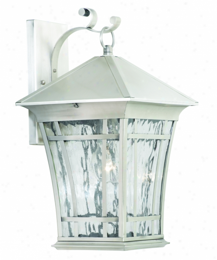 Thomas Lighting Sl948841 Hancock 1 Light Outdoorr Wall Light In Satin Pewter Attending Water Seedy Glass Panels Glass