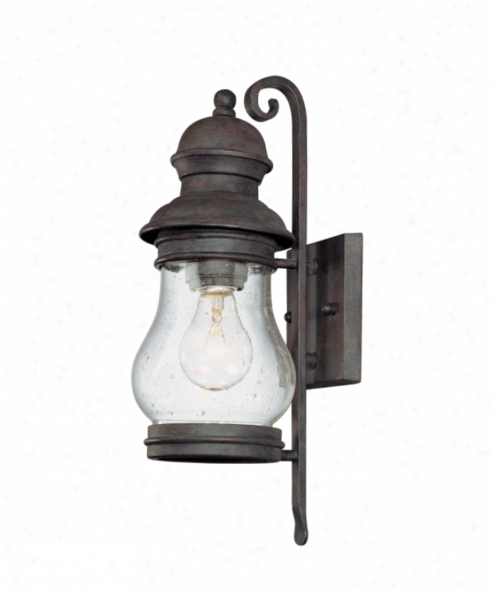 Troy Lightinh B1881hpb Hyannis Port 1 Light Exterior Wall Liggt In Hyannis Embrasure Bronze With Clear Seeded Glass Glass