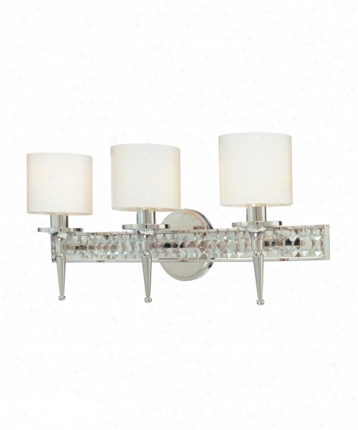 Troy Lighting B1923pn Collins 3 Light Bath Vanity Light In Polished Nickel With Clear Opal Glass lGassdiamond Crystal Crystal