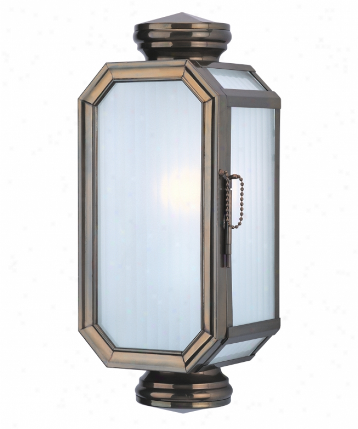 Troy Lighting Bf2009hb Leington Energy Smart 1 Loose Outdoor Wall Light In Heritage Bronze With Frosted Ribbed Glass Glass