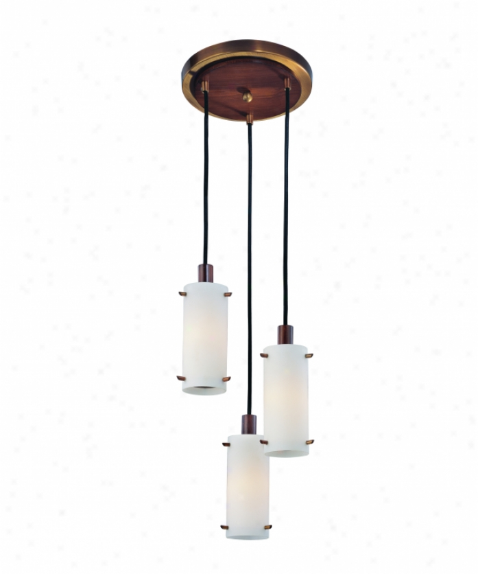 Troy Lighting F2343agb Silver Lake 3 Gossamery Mini Pendant In Having lived Brass With Wood Accsnts With Etched Opal Glass With Opal Glass Diffuser Glass