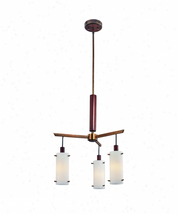Troy Lighting F2344agb Silver Lake 3 Light Single Tier Chandelier In Aged Brass With Wood Accents With Etched Opal Glass With Opal Glass Diffuser Glaas