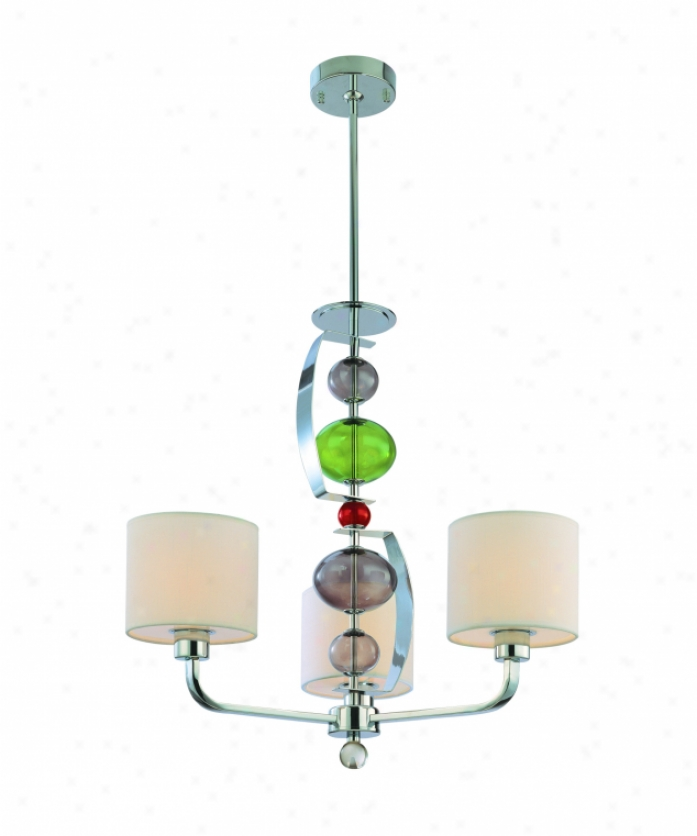 Troy Lightni F2383pc Fizz 3 Light Single Tier Chandelier In Polished Chrome With Frosted White Acrylic Glass