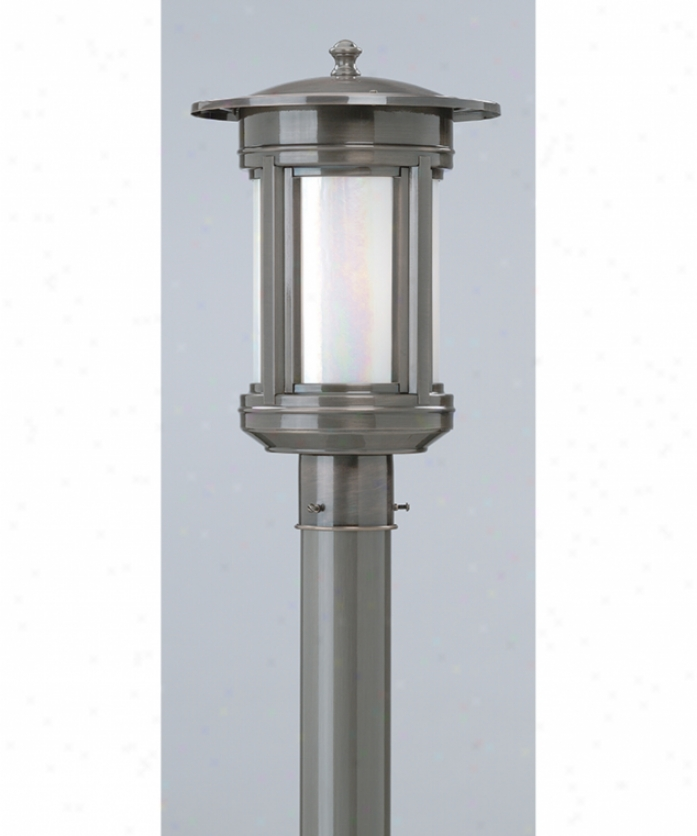 Troy Lighting Pfih6915obf Highland Park Energy Smart 1 Light Outdoor Post Lamp In Oil Rubbed Bronze By the side of Iridescent Honey Glass