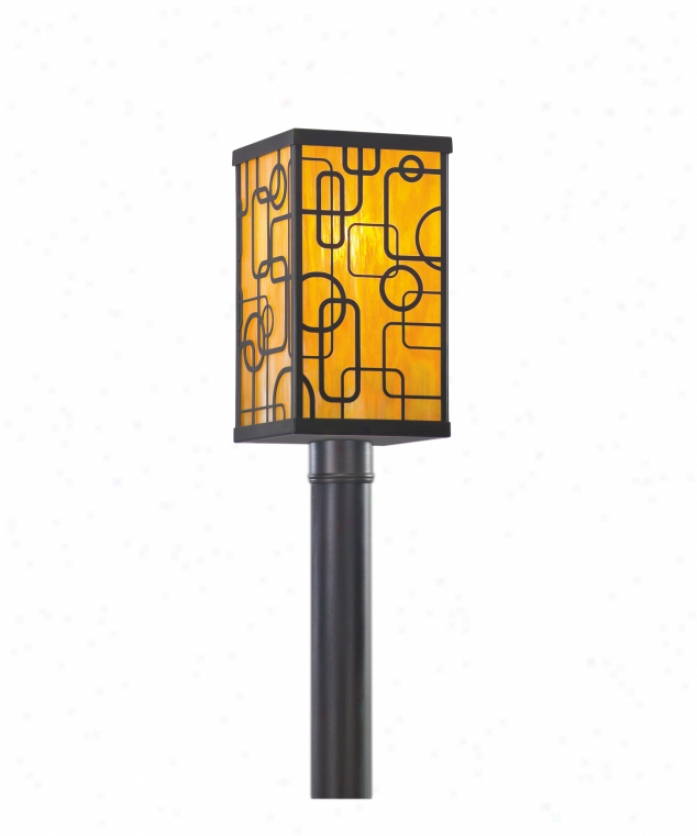 Troy Lighting Pwt60885ps Simpatico Conundrum 1 Light Outdoor Post Lamp In Polished Stainless Steel With Opal White Glass