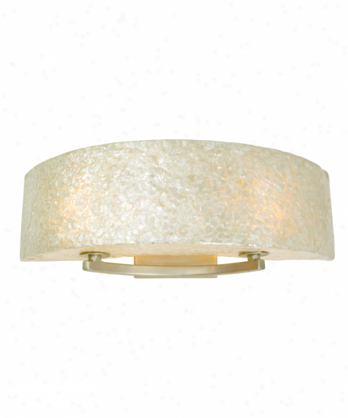 Varaluz 173b02a Radius 2 Light Bath Vanity Light In Gold Dust With Sustainable Crushed Natural Capiz Shell Glass