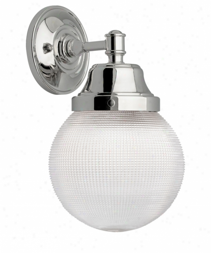 Wilmette Lighting Company 600wriwcn Wrightwood 1 Light Outdoor Wall Light In Polished Nickel With Clarify Glass