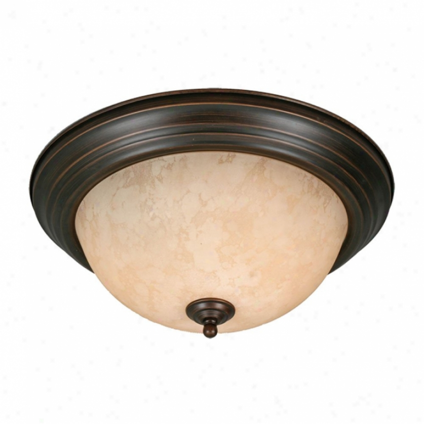 1390-13rbz - Golden Lighting - 1390-13rbz > Flush Mount