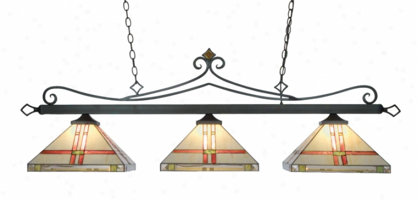 190-11-tb-t9 - Landmark Lighting - 190-11-tb-t9 > Billiard Lighting
