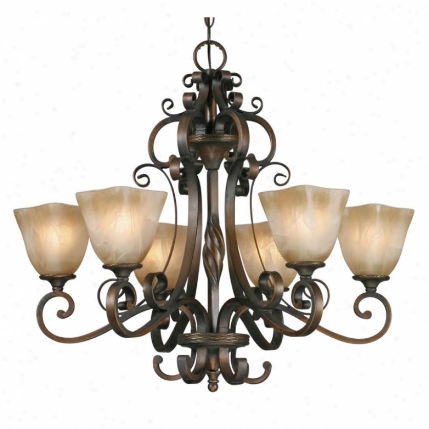 3890-6gb - Golden Lighting - 3890-6gb > Chandeliers