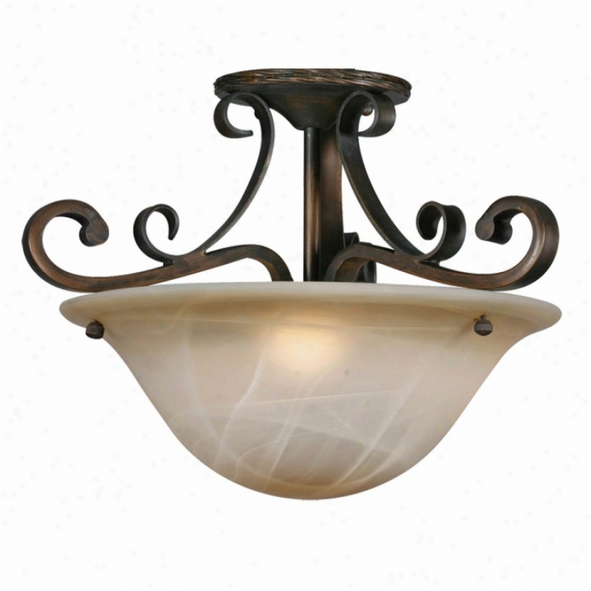 3890-sfgb - Golden Lighting - 389O--sfgb > Semi Flush Mount