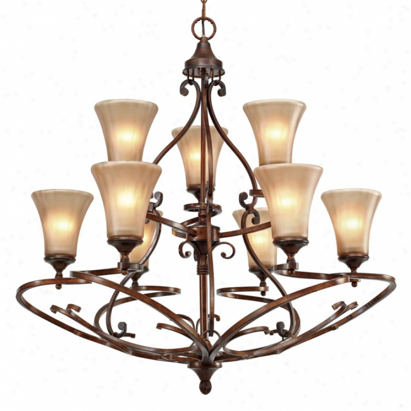 4002-9rsb - Golden Lighting - 4002-9rsb > Chandeliwrs