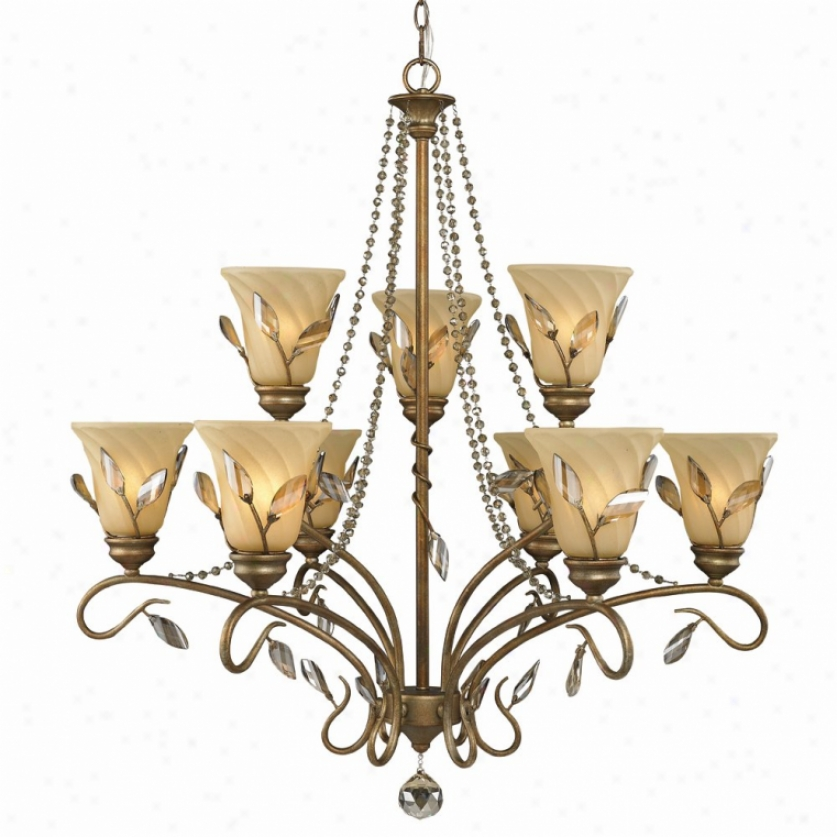 5400-9-rg - Golden Lighting - 5400-9-rg > Chandeliers