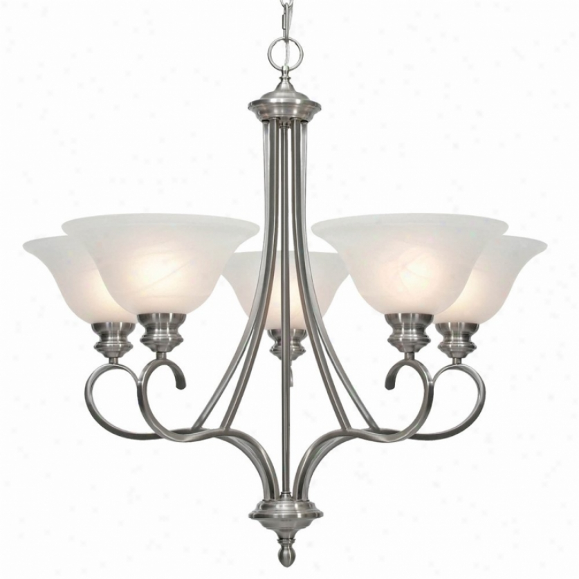 6005-5pw - Auspicious Lighting - 6005-5pw > Chandeliere