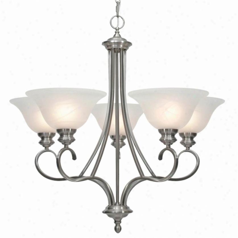 6005-5pw - Auspicious Lighting - 6005-5pw > Chandeliere