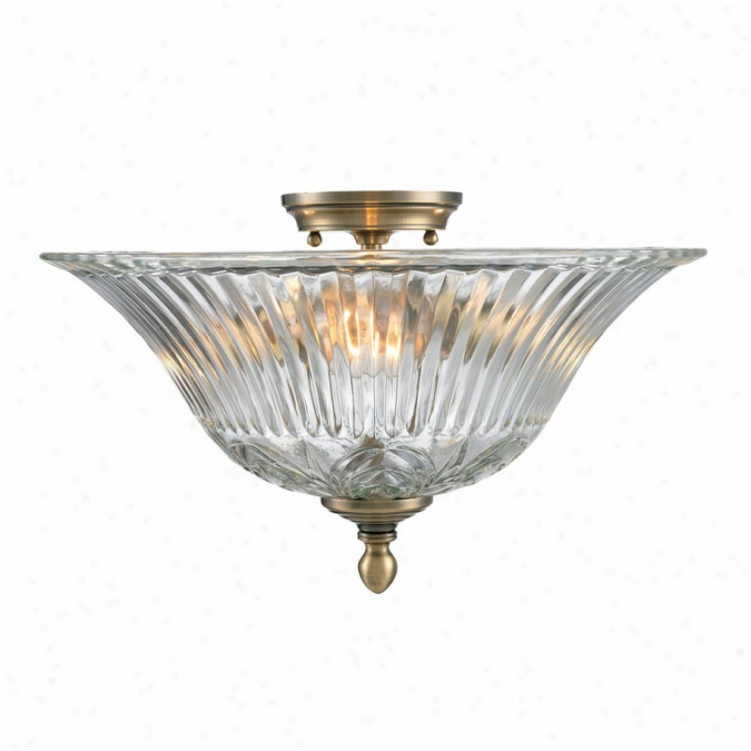 6005-fm-ab - Golden Lighting - 6005-fm-ab > Flush Mount