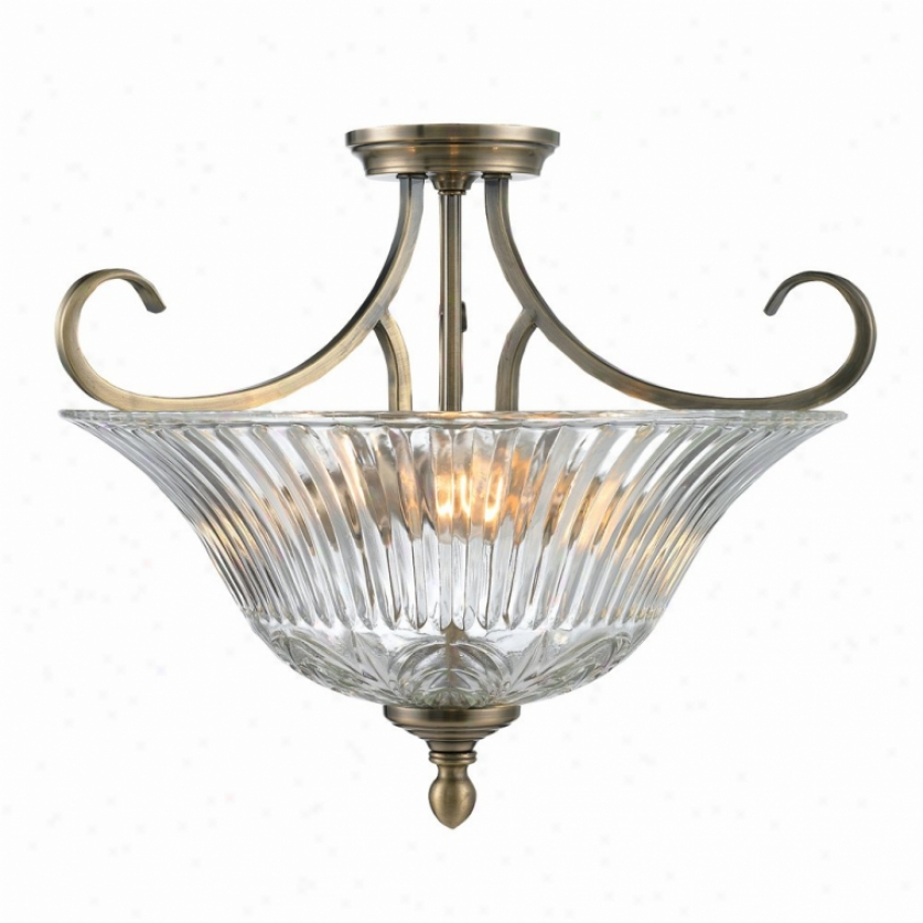 6005-sf-ab - Golden Lighting - 6005-sf-ab > Semi Flush Mount