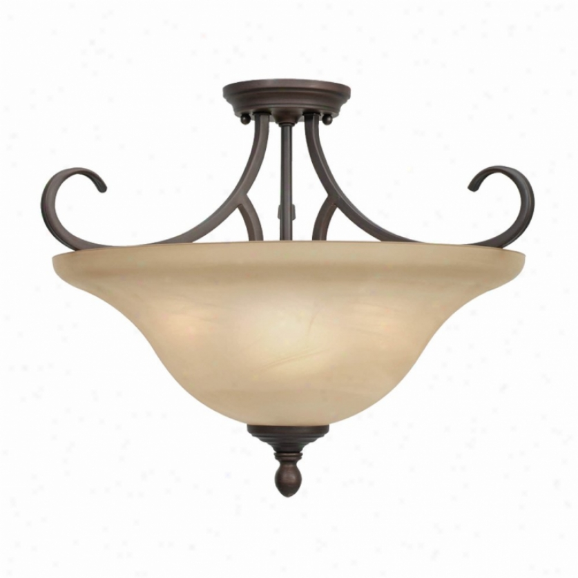6005-sfrbz - Golden Lighting - 6005-sfrbz > Semi Flush Mount