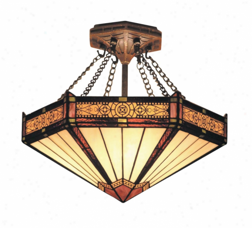 621-ab - Landmark Lighting - 621-ab > Semi Flush Mount