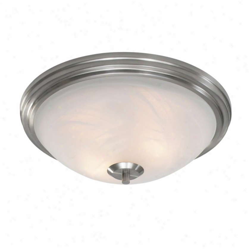 7158-fmpw - Auspicious Lighting - 7158-fmpw > Flush Mount
