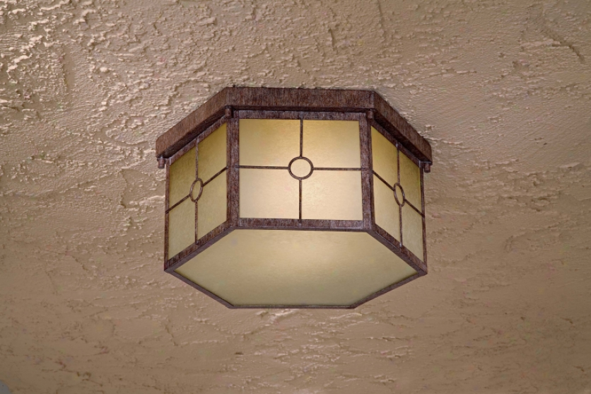8219-61-pl - The Great Outdoors - 8219-61-p > Outdoor Flush Mount