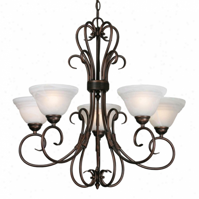 8505-5rbz - Golden Lighting - 8505-5rbz > Chandeliers